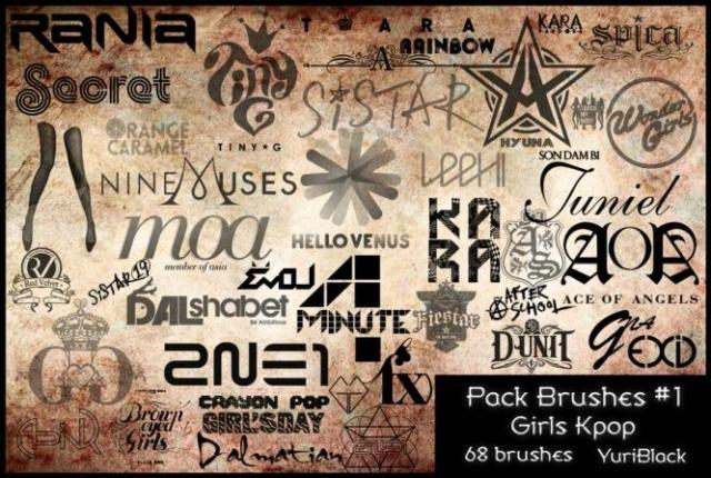 Pack Brushes #1 - Kpop Girls 567-pa10