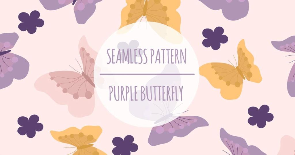 Purple Butterfly – Seamless Pattern 5eb83210