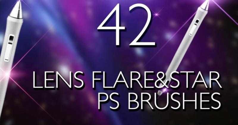 Lens Flare & Stars Photoshop Brushes 6ea5fb10