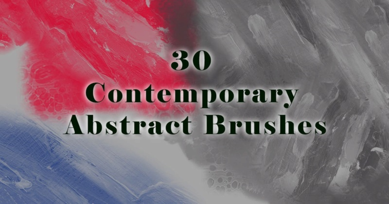 30 Contemporary Abstract Brushes 9a650910