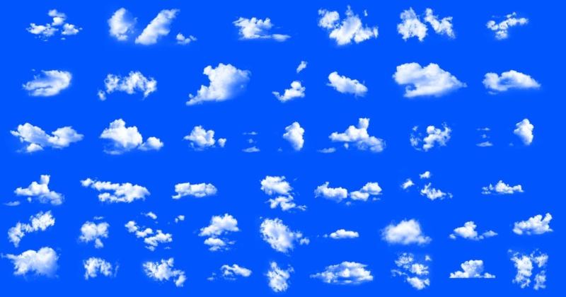 50 Pieces Dreamy Soft Clouds Photoshop Set Ae287010