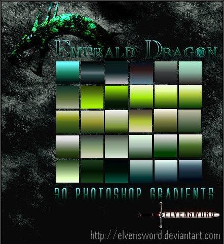 Emerald Dragon Ps Gradients Emeral10