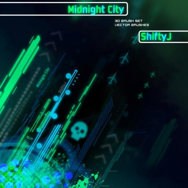 Midnight City Brushes Midnig11