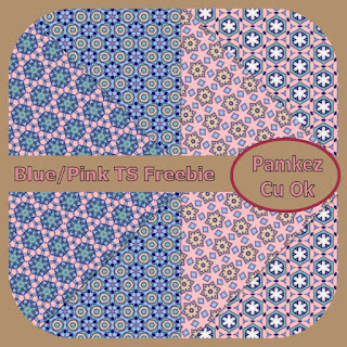 Blue And Pink TS Papers Freebie Pk_blu10