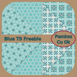 Blue TS Patterned Papers Freebie Pk_blu11