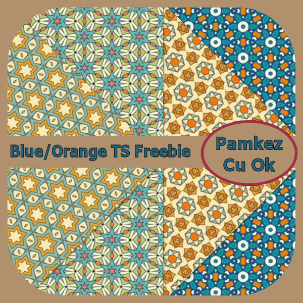 Blue And Orange Tagger Size Papers Freebie Pk_blu14