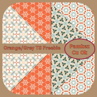Orange And Grey TS Papers Freebie Pk_ora10