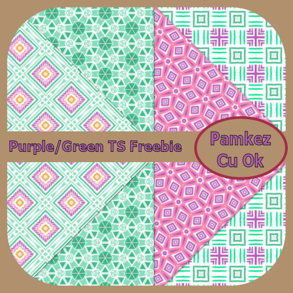 Purple And Green TS Papers Freebie Pk_pur10
