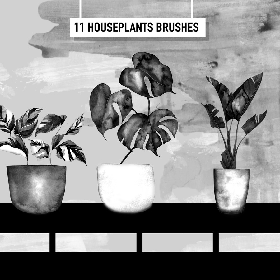 Houseplants Free Brushes Potted10
