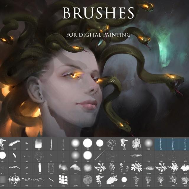 Photoshop Brushes for digital painting Smudge10
