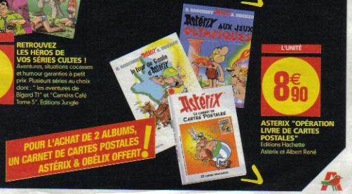"""Astérix """"opération livre de cartes postales"""" As10"""