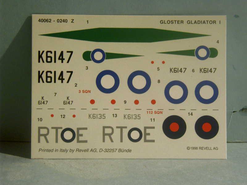 Comparatif GLOSTER GLADIATOR 1/72ème Imag0284