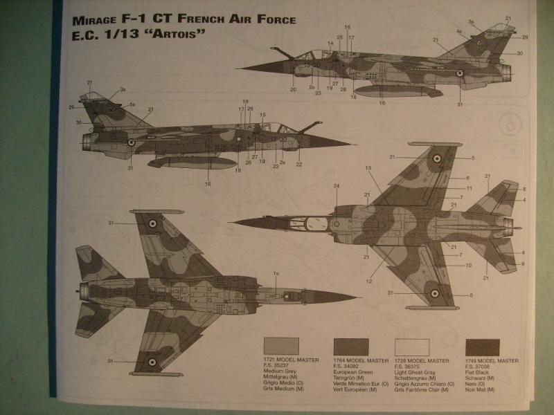 Multi-présentations ESCI/ITALERI quelques  MIRAGE III, F1 et KFIR au 48ème S7300540