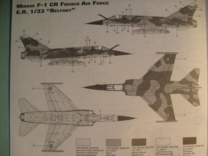 Multi-présentations ESCI/ITALERI quelques  MIRAGE III, F1 et KFIR au 48ème S7300541