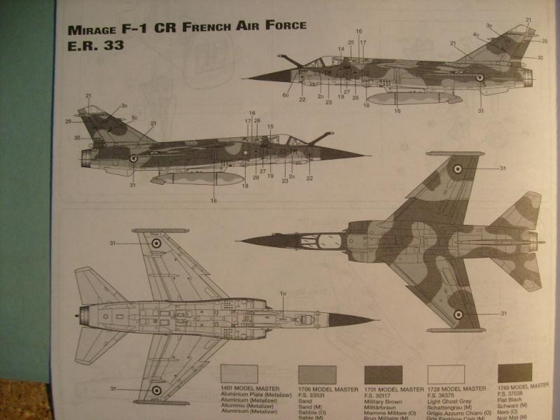 Multi-présentations ESCI/ITALERI quelques  MIRAGE III, F1 et KFIR au 48ème S7300542