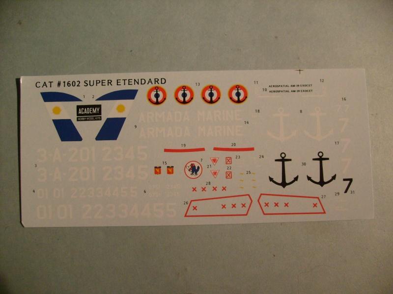 [ACADEMY] DASSAULT SUPER ETENDARD 1/72ème Réf 1602 S7301064