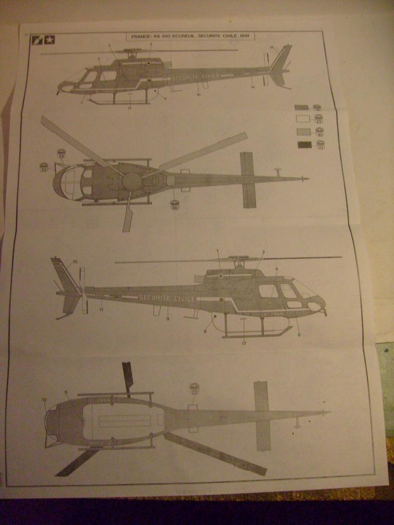 AEROSPATIALE AS 350 ECUREUIL SECURITE CIVILE 1/50ème Réf 80425 S7301426