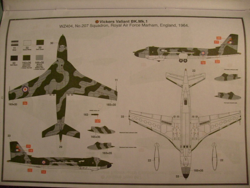 Comparatif REVELL / AIRFIX des  3 V ,HANDLEY PAGE VICTOR, AVRO VULCAN B Mk2, VICKERS VALIANT BK Mk 1 1/72ème S7305100