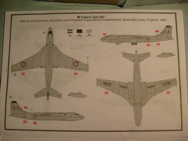 Comparatif REVELL / AIRFIX des  3 V ,HANDLEY PAGE VICTOR, AVRO VULCAN B Mk2, VICKERS VALIANT BK Mk 1 1/72ème S7305101