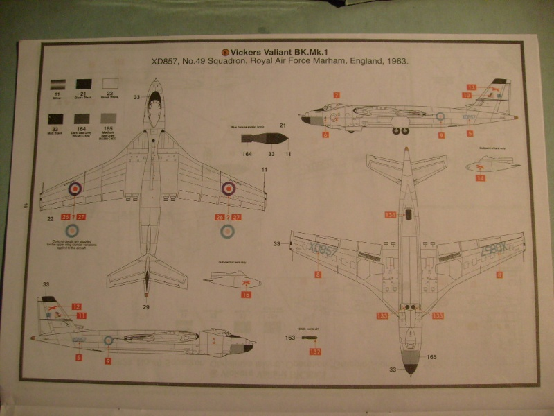 Comparatif REVELL / AIRFIX des  3 V ,HANDLEY PAGE VICTOR, AVRO VULCAN B Mk2, VICKERS VALIANT BK Mk 1 1/72ème S7305299