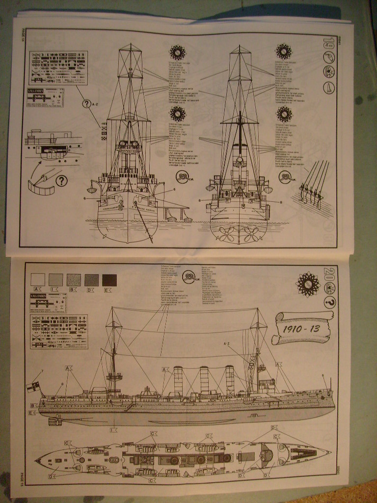[REVELL] Croiseur léger SMS EMDEN1/350ème Réf 05041 S7305662