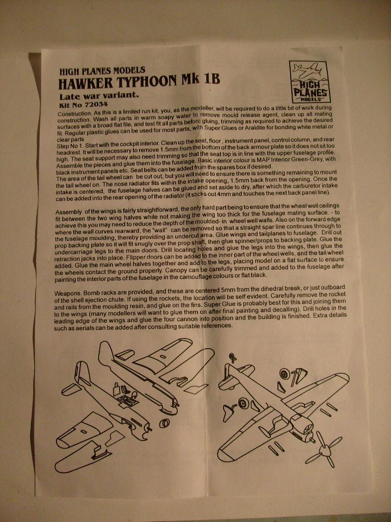 Comparatif des Typhoons mk 1 B de diverses marque S7307670