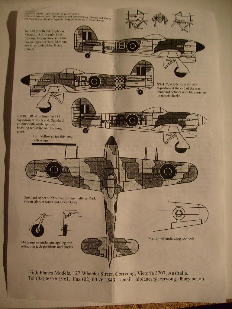 Comparatif des Typhoons mk 1 B de diverses marque S7307671