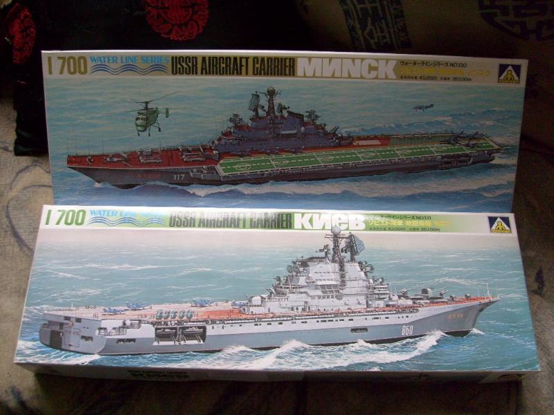 [AOSHIMA] Porte-avions MINSK & KIEV 1/700ème Réf 00503 & 00504 S7308581