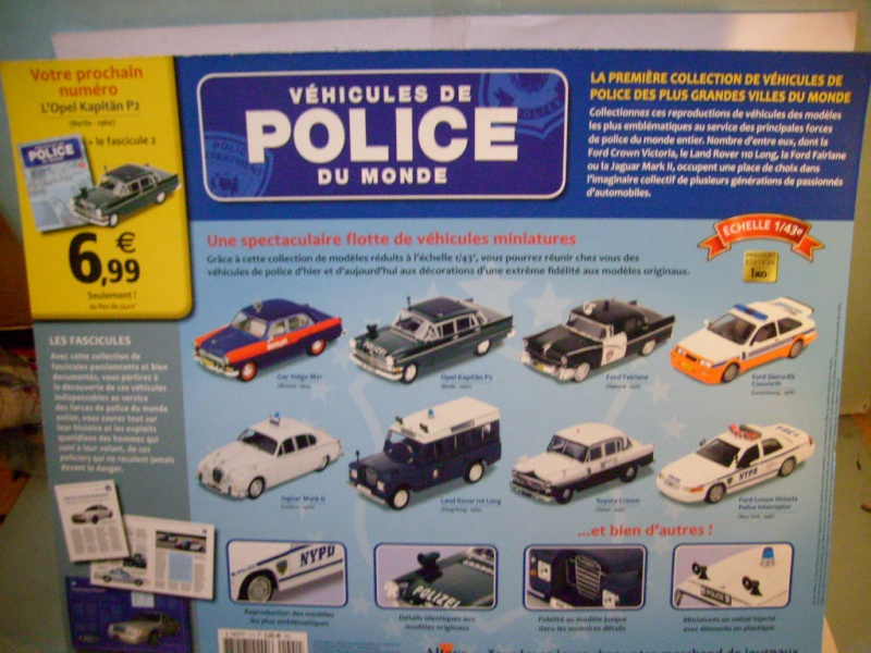 """Véhicules de police du monde"", test Altaya février 2012 S7309015"