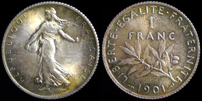 1 Franc semeuse-Troisième république 0210-110