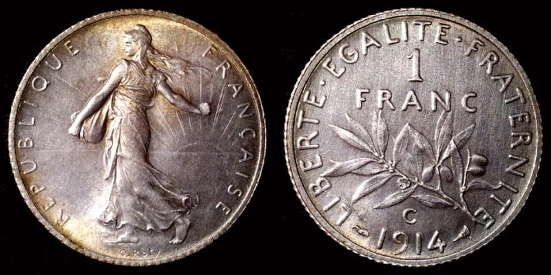 1 Franc semeuse-Troisième république 1643de10
