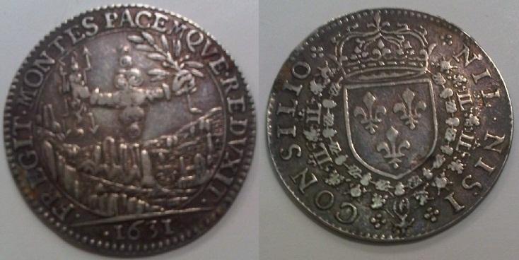 """Jeton """"conseil du roi"""" Louis XIII 1631 Img01210"""