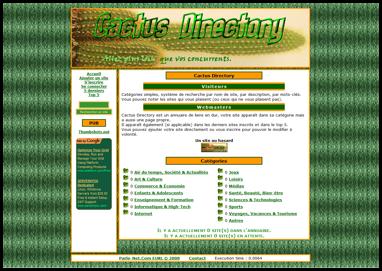 [Annuaire] Cactus Directory Captur10
