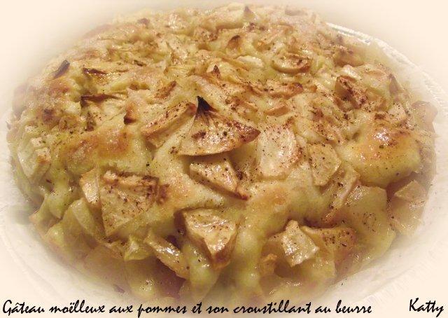 Gâteau moeleux aux pommes et son croustillant au beurre Gateau11