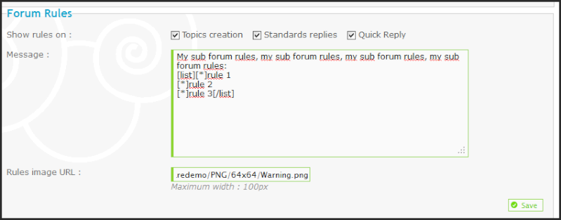New: Specific rules to each sub forum, Syntax coloration for Templates & CSS, and more ...! 02-11-10