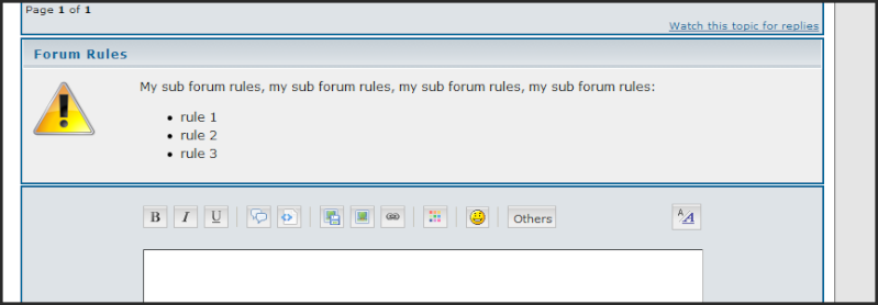 New: Specific rules to each sub forum, Syntax coloration for Templates & CSS, and more ...! 02-11-11
