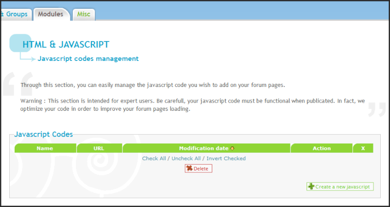 New Update: JavaScript Code Management 04-07-11