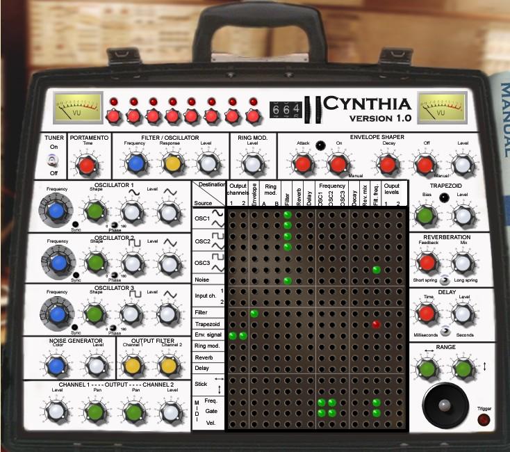 Les émulations gratuites du Synthi A Cynthi10