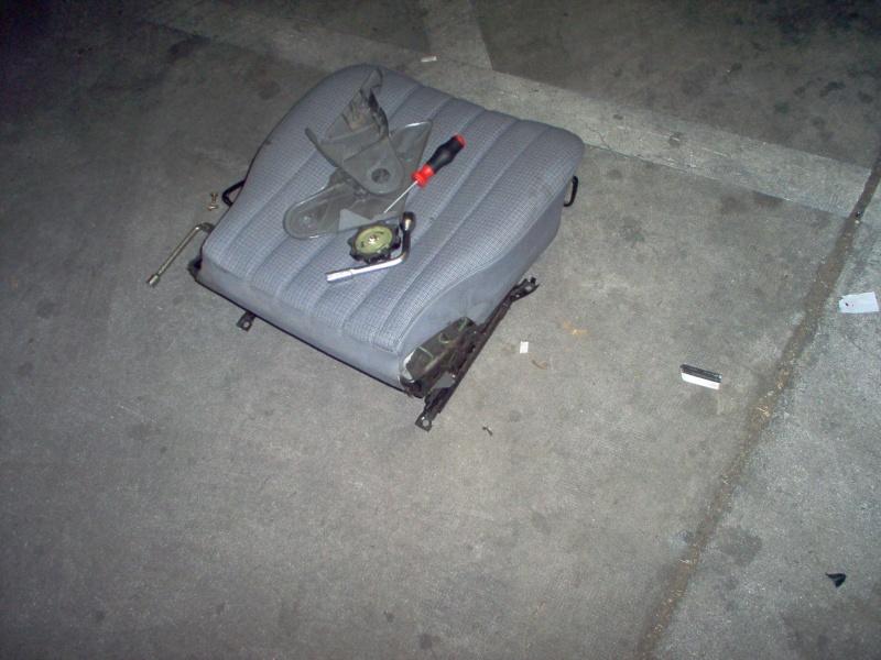 Siège conducteur usé, solution simple Passep25