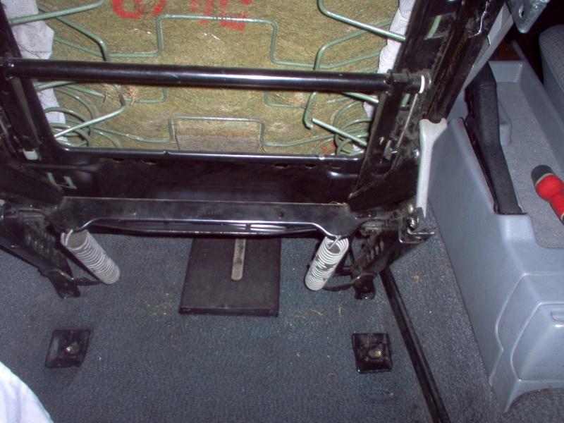 Siège conducteur usé, solution simple Passep34