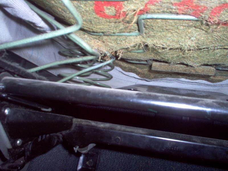 Siège conducteur usé, solution simple Passep35