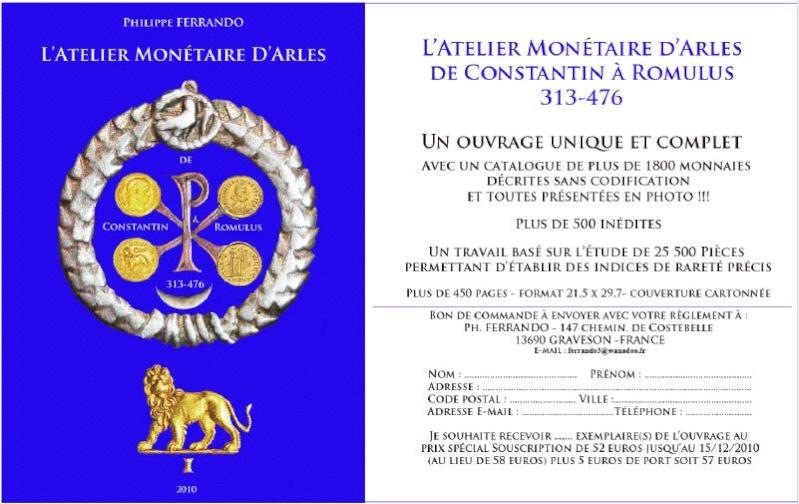 L'ATELIER MONÉTAIRE D'ARLES DE CONSTANTIN À ROMULUS  313-476 Arles10