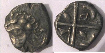 Dracma a la cruz, tipo languedocien (Longostalètes) Drachm14