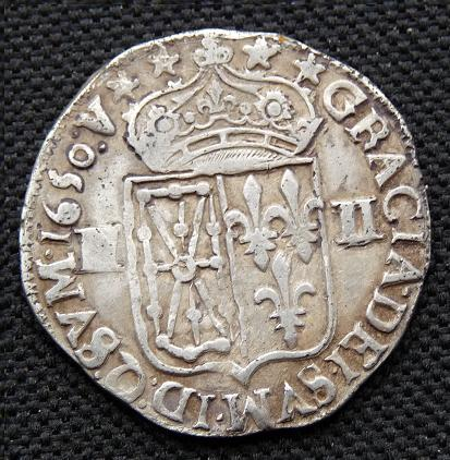 Quart d'écu de Navarre, Louis XIV [WM n° 7689] Monnai11