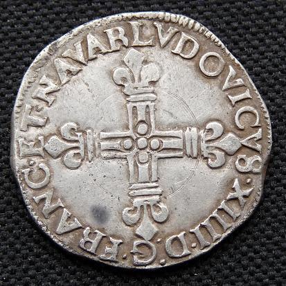 Quart d'écu de Navarre, Louis XIV [WM n° 7689] Monnai12