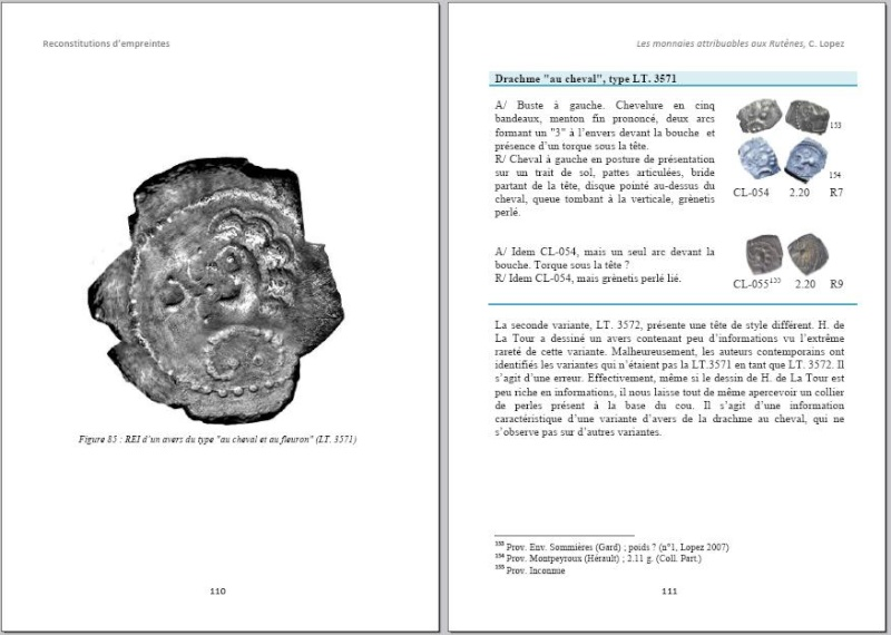 Drachme au cheval et au fleuron (Rutènes) [WM n° 7642] Page210