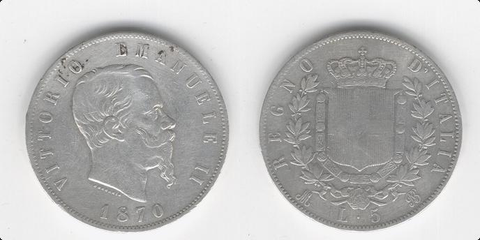 5 Liras de V.Emanuele II (Milan, 1870) 6_anv_10