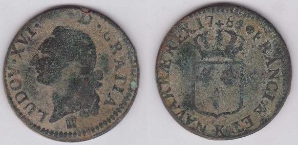 Francia, 1 Sol,  Luis XVI, 1784. France10