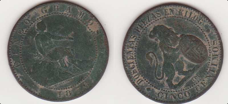 5 Céntimos del Gobierno Provisional (Barcelona, 1870) Img09210