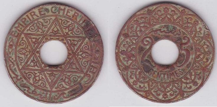 Marruecos, 25 centimes, 1924. Marroq10